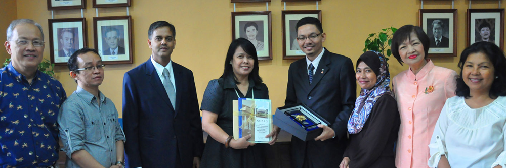 Delegates from the Malaysian Civil Service with NCPAG Officials