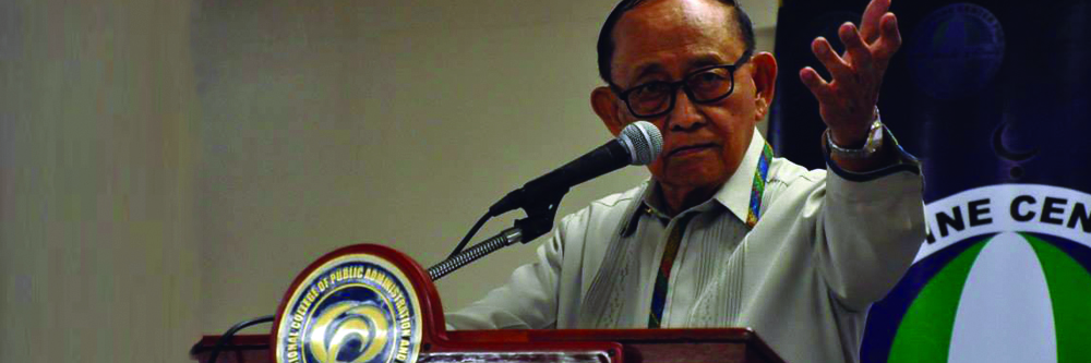 Former President Fidel V. Ramos is keynote speaker at NCPAG's special lecture on the Bangsamoro Basic Law.