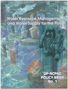 Water Resource Management and Water Supply for the Poor - Policy Brief No 1