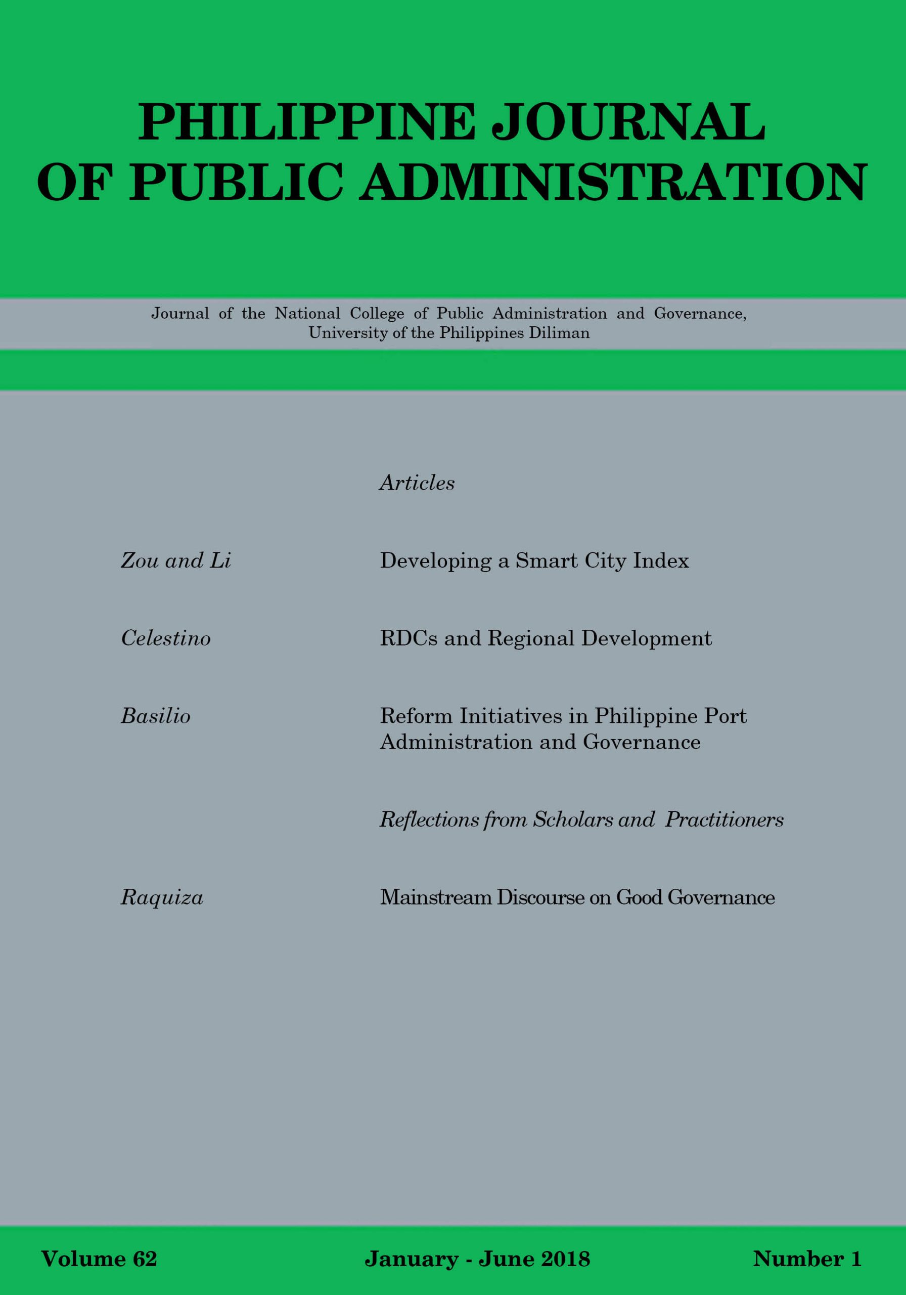 Phil. Journal of Public Administration Vol. 62, No. 1